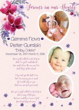 gemma memorial card