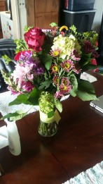 Flowers from my mother and sister